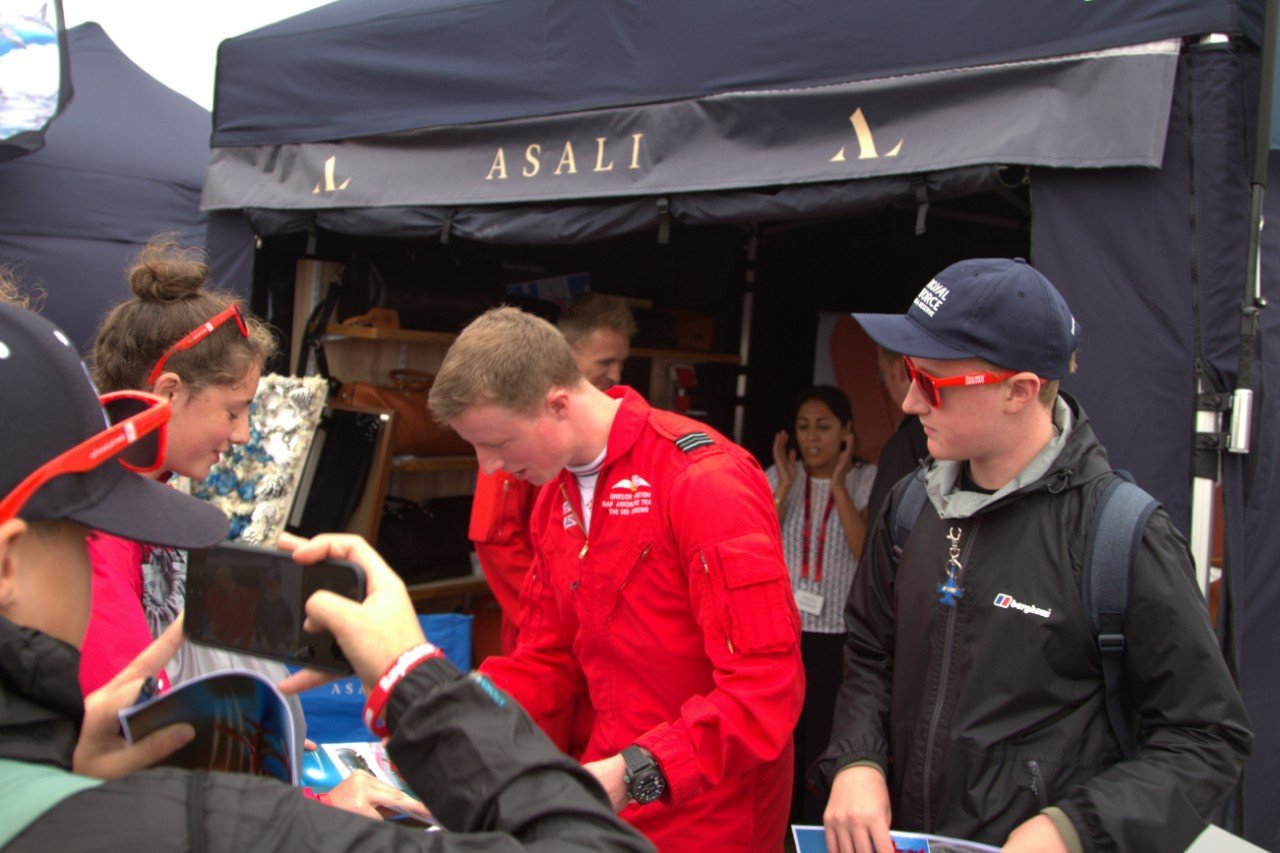 gregor ogsten red 4 red arrows meets fans at the asali stand