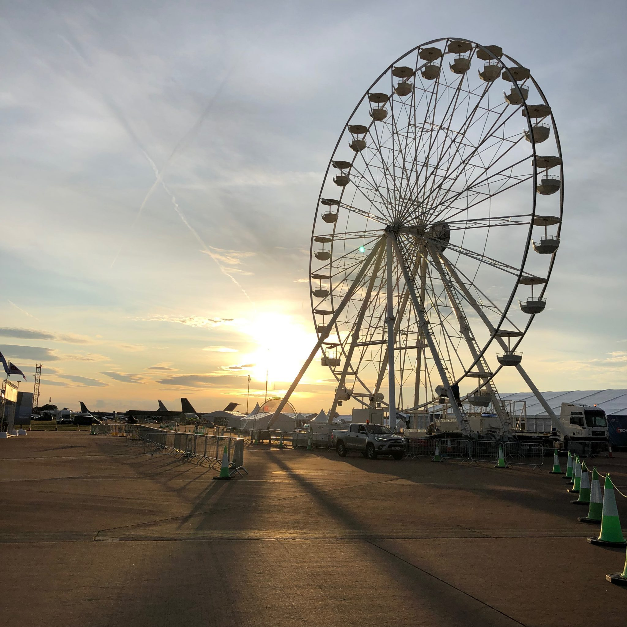 riat wheel 2019 sunset