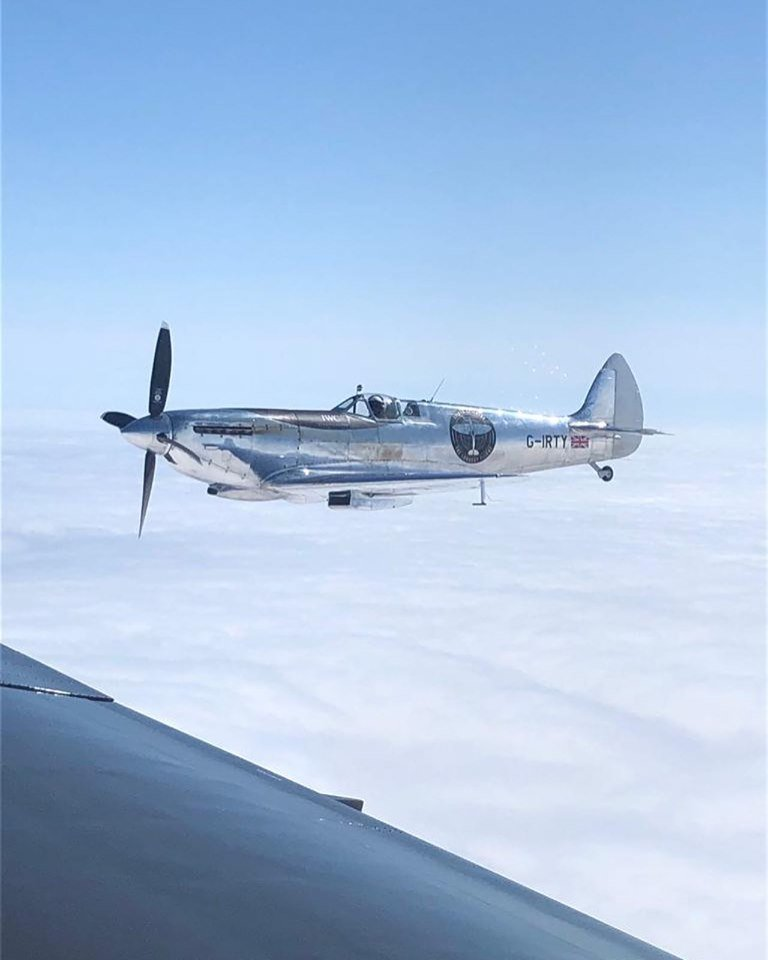 silver spitfire on route to iceland