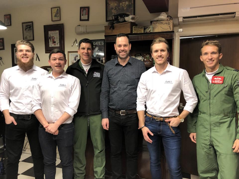 raf pilots lukes barbershop lincolnshire