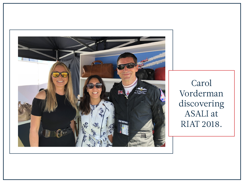 carol vorderman raf cadet group captain at riat asali stand