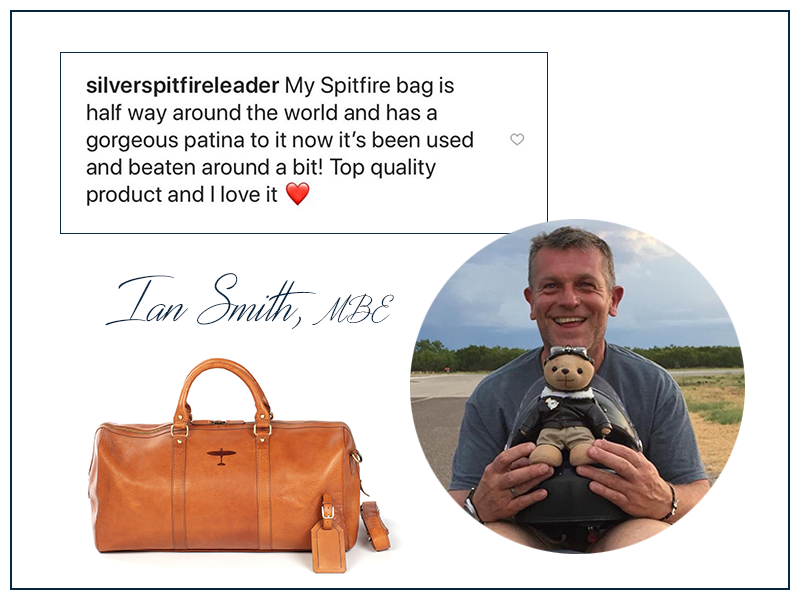 silver spitfire leader ian smith reviews his asali spitfire weekend bag