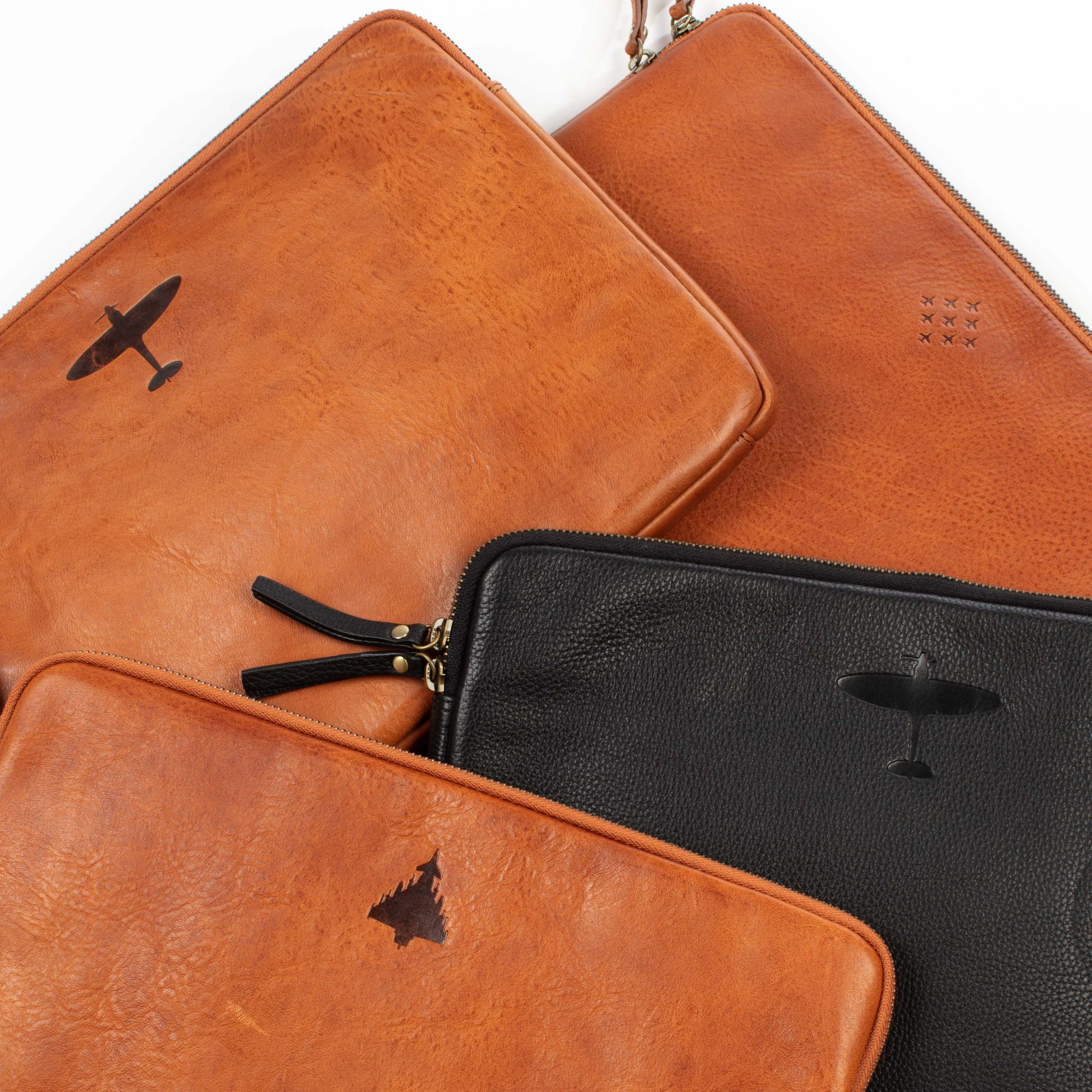 asali leather laptop sleeves typhoon spitfire red arrows