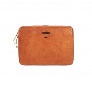 supermarine spitfire leather laptop sleeve tan loved by phillip schofield