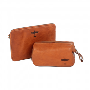 loved by phillip schofield spitfire wash bag and laptop sleeve leather asali