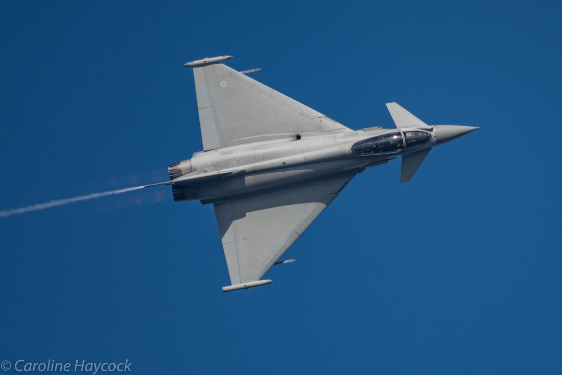 Flt Lt D rogers typhoon display caroline haycock photography