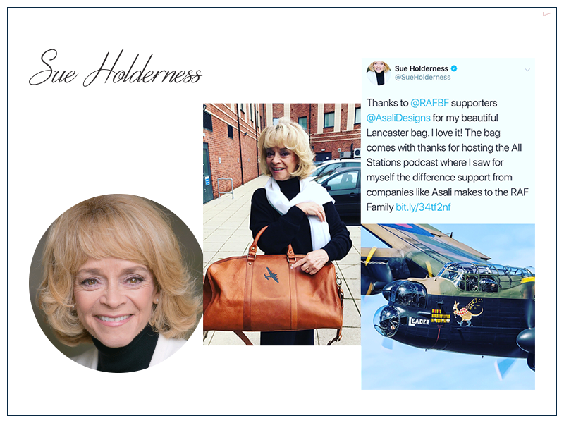 sue holderness only foods and horses lancaster bomber bag rafbf asali designs