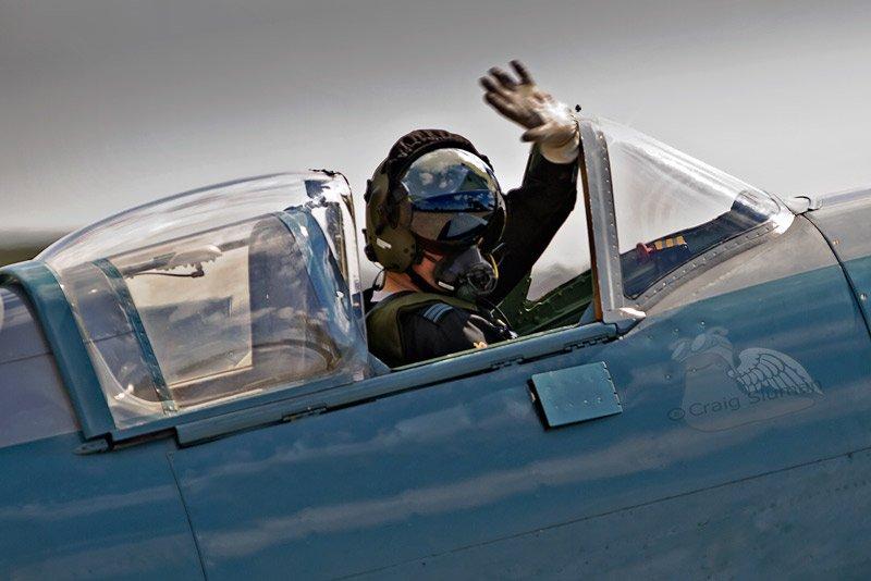mark discombe flying a spitfire bbmf asali craig sluman