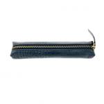 black croco pencil make-ip case slimline leather asali luxury gift