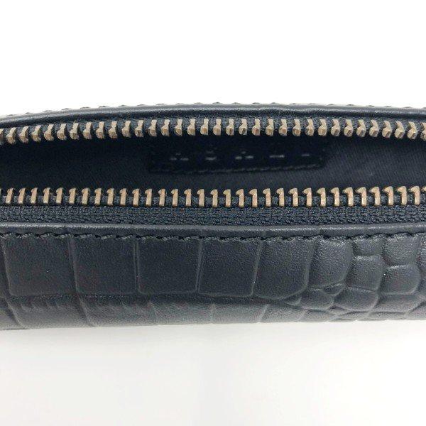 asali designs black zipped case croco leather slimline luxury leather case