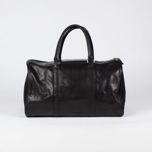 black weekend travel bag large with pockets