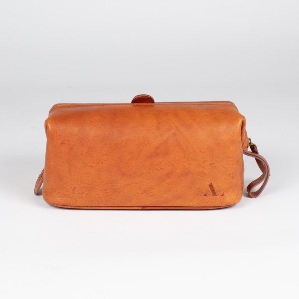 italian tan wash bag large leather asali