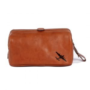 Lancaster bomber gift leather wash bag