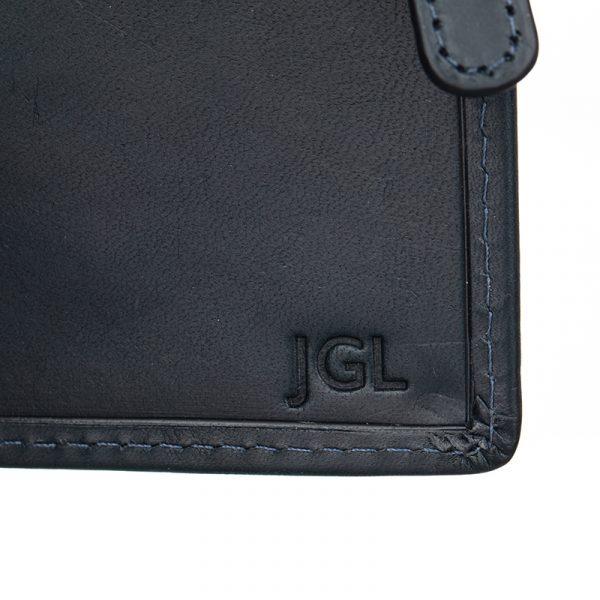 blind deboss personalised leather wallet asali