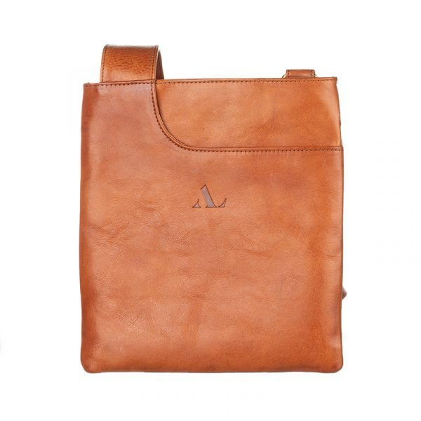 fairford cross body bag tan leather asali designs