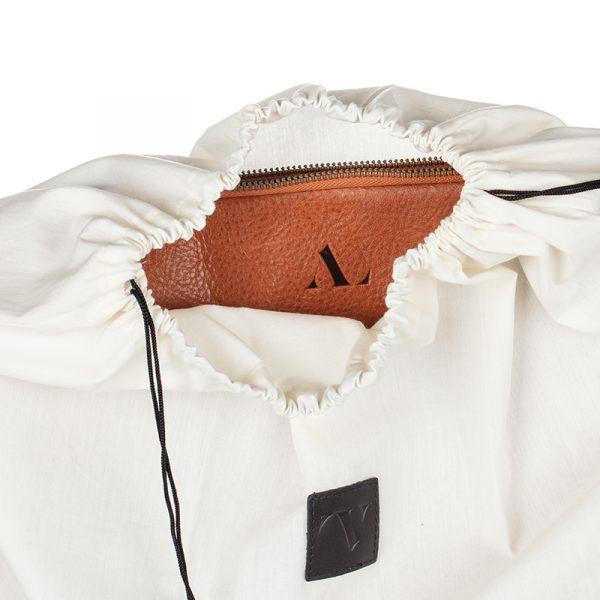 asali leather laptop sleeve in dust bag