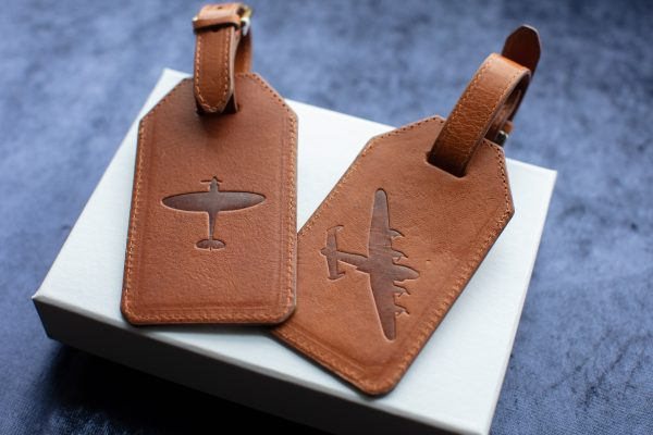 bomber county duo luggage tag set lancaster and spitfire tags