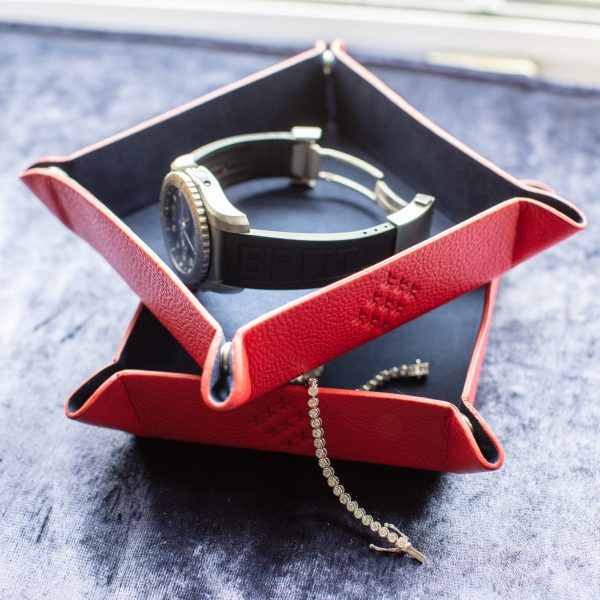 red arrows valet tray brietling watch and diamond bracelet