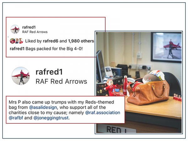 raf red 1 red arrows gift borthday present weekend bag asali