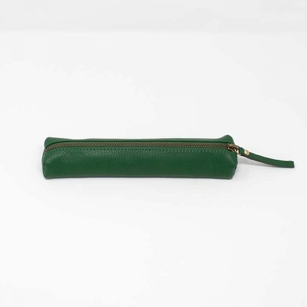 green zipped case leather asali designs