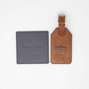 spitfire coaster and luggage tag