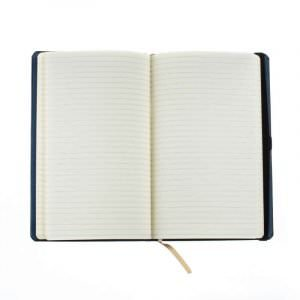 inside of leather notebook with raf wings on asali
