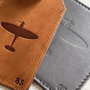 personalised spitfire luggage tag