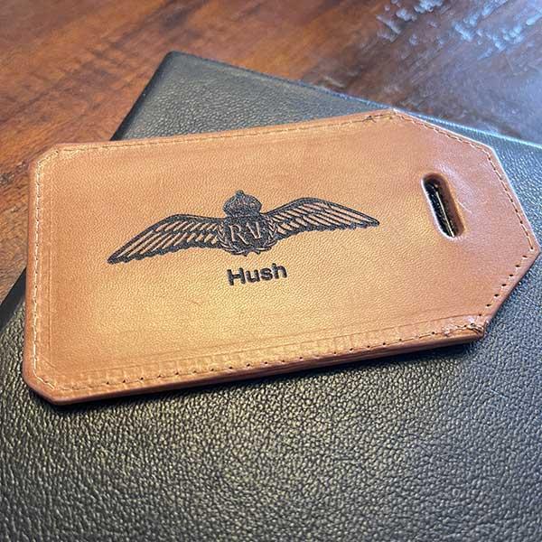 raf wings luggage tag personalised