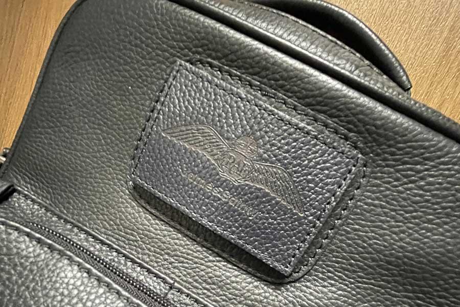 personalised raf wings and name pilot flight bag