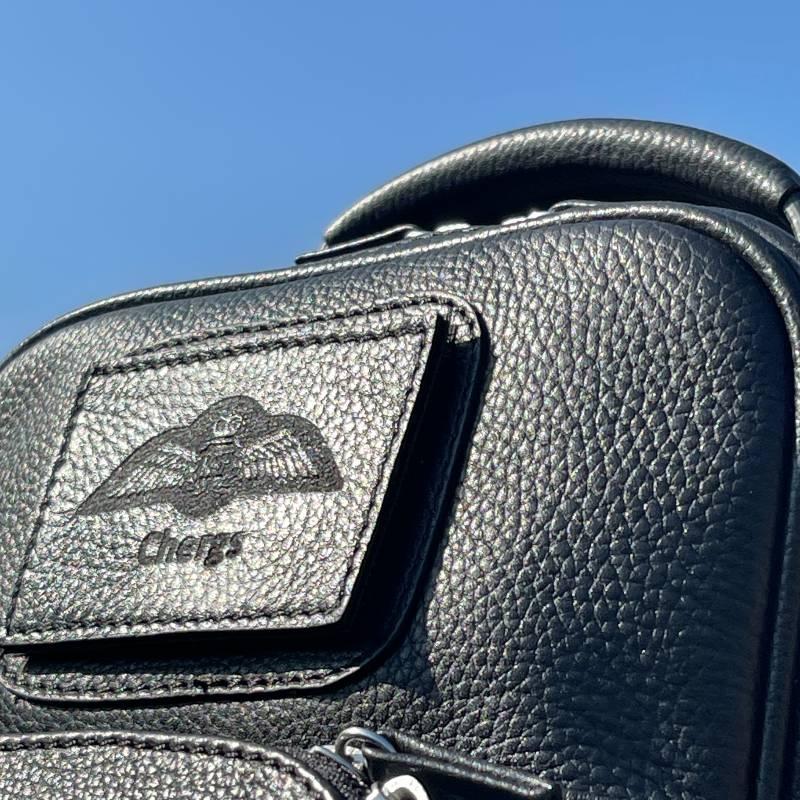 Pilot flight bag personalised badge