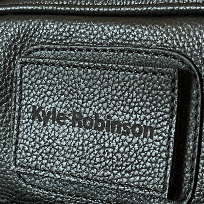 personalised name badge on pilot bag asali