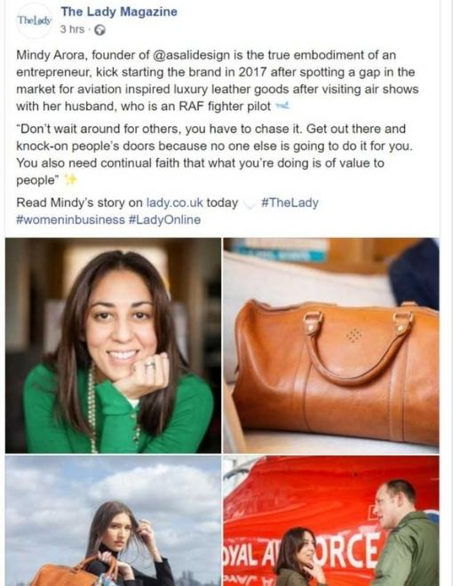 entrepreneur mindy arora featured in the lady magazine